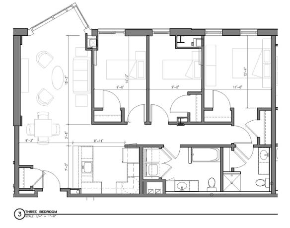 Three Bedroom Apartment Flat
